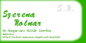 szerena molnar business card